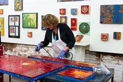 Constance Williamgs , encaustic artist, Asheville, NC.